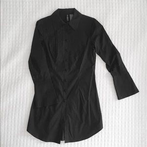 Tuxedo tunic shirt.